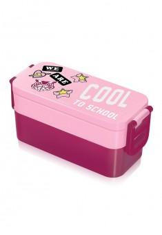 Owl Lunchbox raspberry