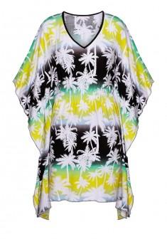 Трикотажное платье с набивным рисунком мультицвет