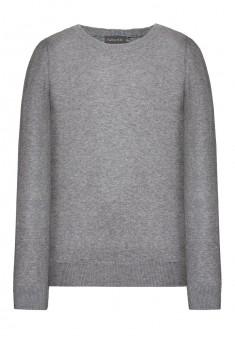 Knitted jumper for boy light grey melange