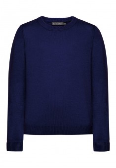 Knitted jumper for boy dark blue
