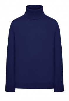 Boys High Collar Knit Jumper dark blue