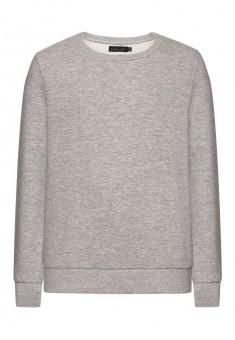 Трикотажный пуловер для мальчика цвет серый меланж