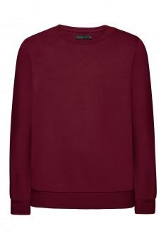 Трикотажный пуловер для мальчика цвет пурпурный