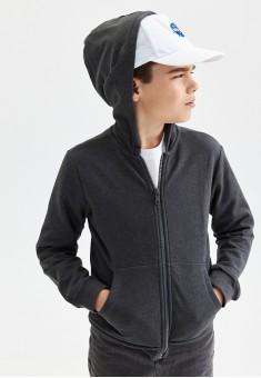 Jersey sweatshirt for boy dark grey melange