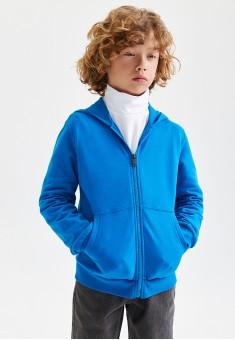 Jersey sweatshirt for boy bright blue