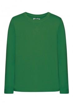 Трикотажная футболка для мальчика цвет яркозеленый