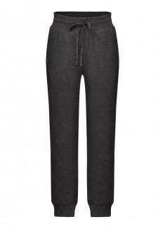 Трикотажные брюки для мальчика цвет темносерый меланж