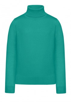 Girls High Collar Knit Jumper menthol