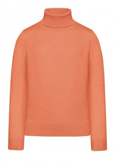 Girls High Collar Knit Jumper coral