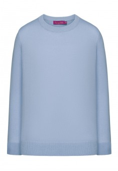 Knitted jumper for girl light blue