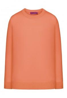 Вязаный джемпер для девочки цвет коралловый