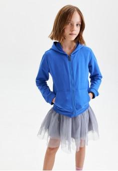 Girls Knitted Sweatshirt bright blue