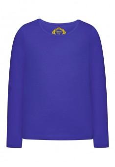 Трикотажная футболка для девочки цвет яркосиний