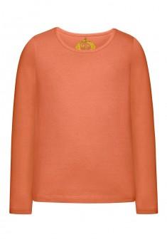 Трикотажная футболка для девочки цвет коралловый