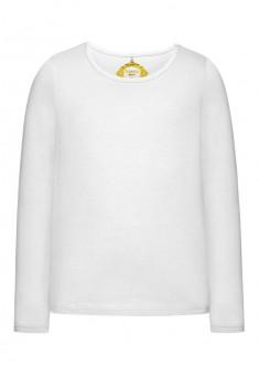 Трикотажная футболка для девочки цвет белый