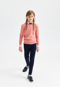 Denim trousers for girl dark blue