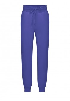 Jersey trousers for girl bright blue