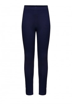 Jersey skinny trousers for girl dark blue