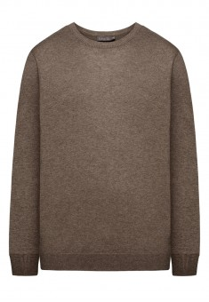 Mens Knit Jumper brown melange