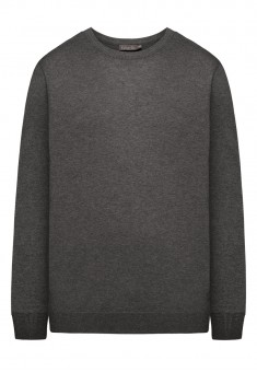 Mens Knit Jumper dark gray melange