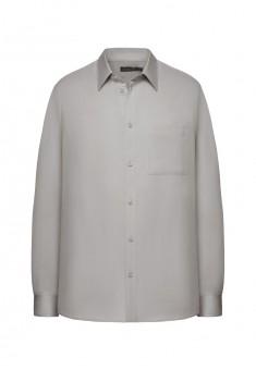 Рубашка с длинным рукавом для мужчины цвет светлосерый