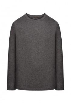 Трикотажная футболка с длинными рукавами для мужчины цвет темносерый меланж