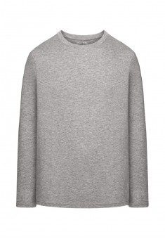 Трикотажная футболка с длинными рукавами для мужчины цвет серый меланж