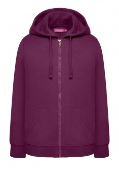 Hooded zip sweatshit