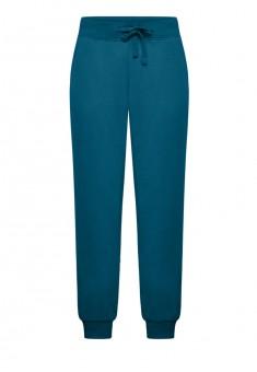 Трикотажные брюки цвет темнобирюзовый