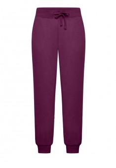 Трикотажные брюки цвет сливовый
