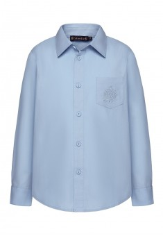 Embroidered shirt for boy light blue
