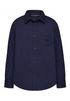 Embroidered shirt for boy dark blue