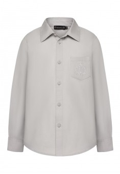 Embroidered shirt for boy grey