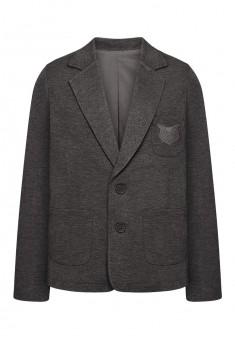 Jersey blazer jacket for boy dark grey melange