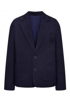 Jersey blazer jacket for boy dark blue