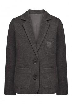Girls Knitted Jacket dark grey melange
