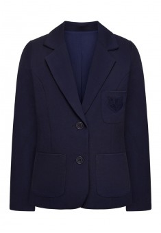 Girls Knitted sleeveless jacket dark blue