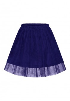 Multilayered skirt for girl dark blue