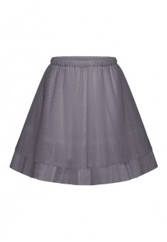 Multilayered skirt for girl grey