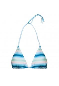 Festival Triangle Bikini Top multicolor stripe