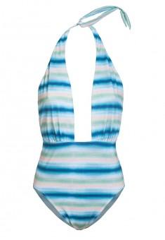 Сплошной купальник Фестиваль многоцветная полоска