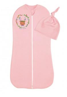 Конверткокон с чепчиком для новорожденных