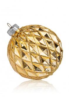 Шар елочный золотистый