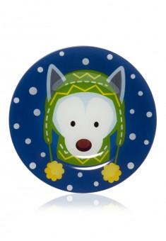 Новогодняя тарелка Лайка