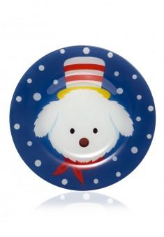 Новогодняя тарелка Болонка