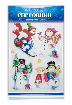 Новогодние наклейки Снеговики
