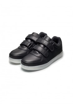 LEDequipped sports trainers for boy black