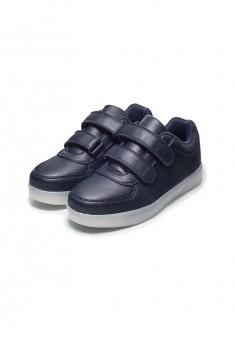 SSB002 Sporta kurpes zēnam tumši zilā krāsā ar gaismas diodēm