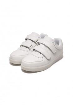 Кроссовки со светодиодами детские белые