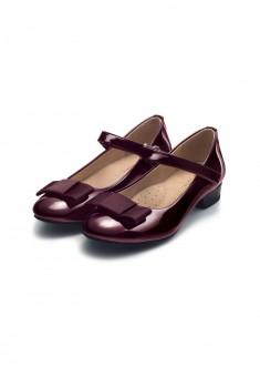 Туфли Classic для девочек бордовые
